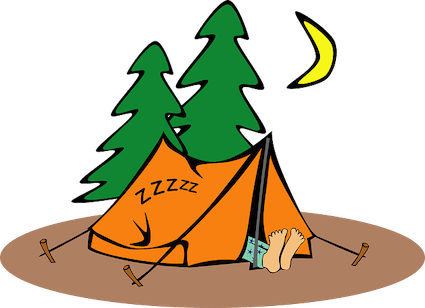 Back to Camping - Camping Tent Drawing