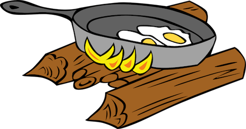 Camping Cooking Ideas - Eggs in Skillet