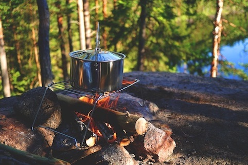Camping Cooking Ideas - Pot on Open Fire