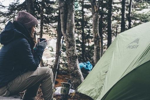 Camping Jackets - Woman Hot Drink