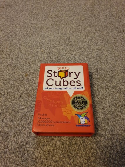 Family Games To Play At Home - Story Cubes Box