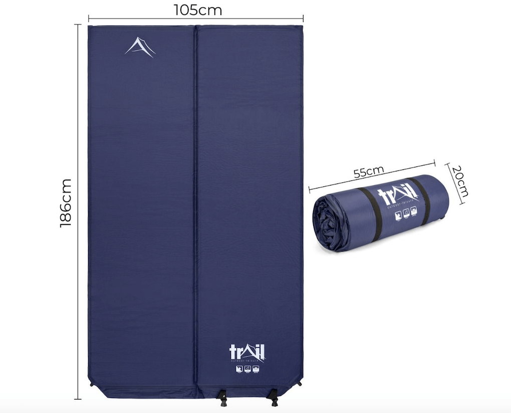 The Trail 5cm Double Self-Inflating Camping Mattress - Dimensions