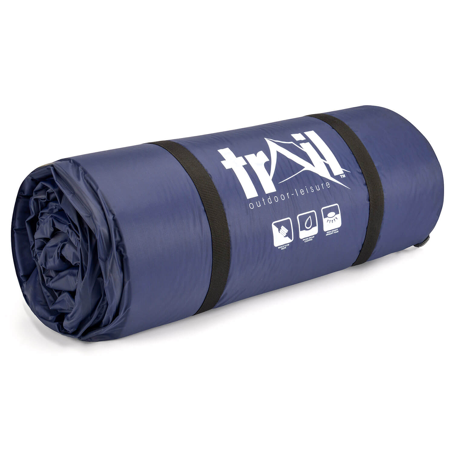 The Trail 5cm Double Self-Inflating Camping Mattress - Rolled