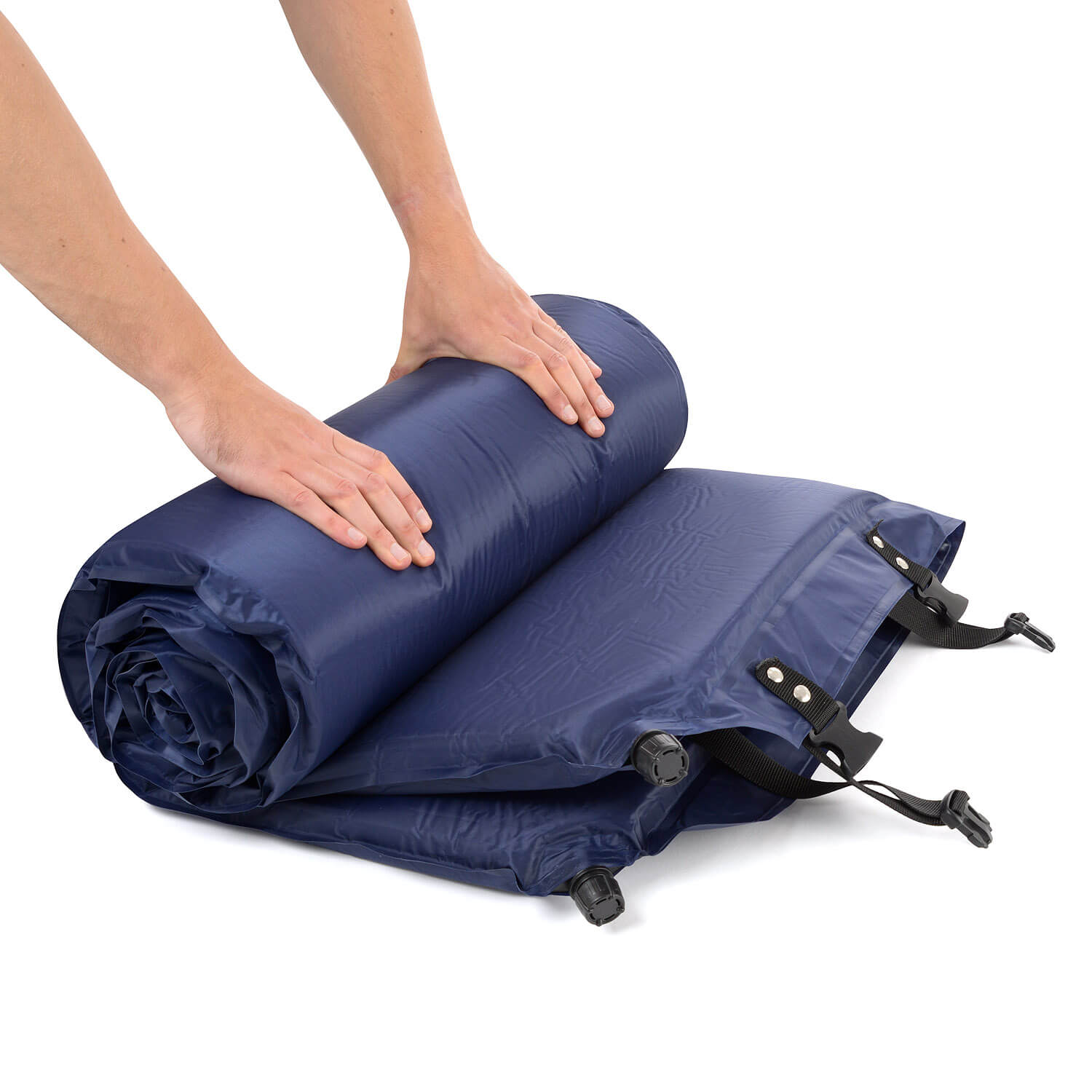 The Trail 5cm Double Self-Inflating Camping Mattress - Rolling Up