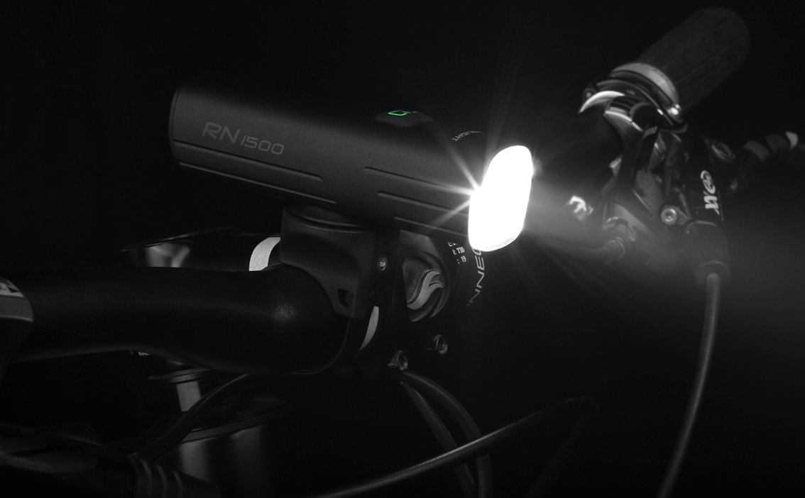 Cycle Light Sets - Olight RN1500 And SEEMEE 30 Review - RN1500 on bike