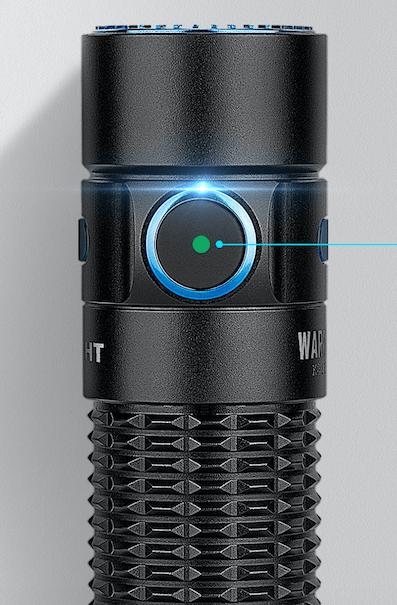 Olight Warrior Mini - battery level indicator