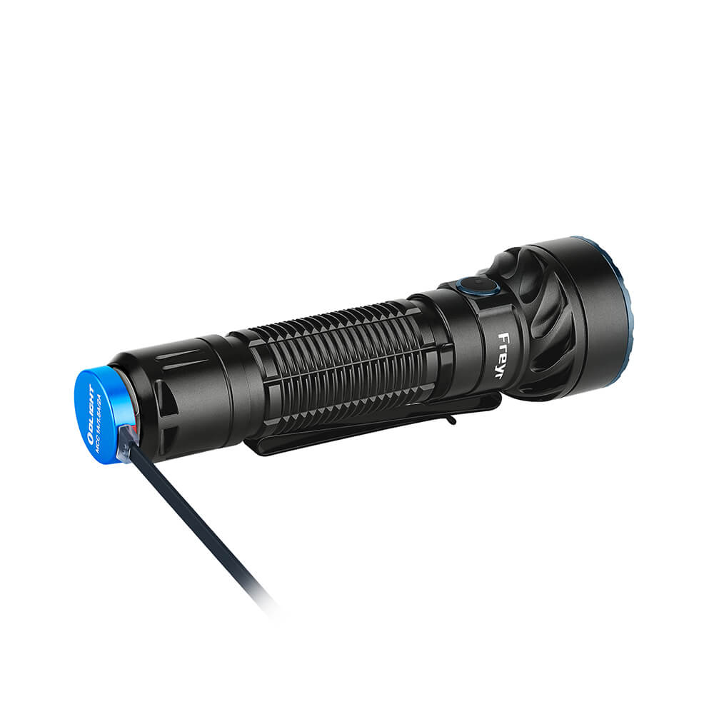 Olight Freyr Multicoloured LED Torch - charging