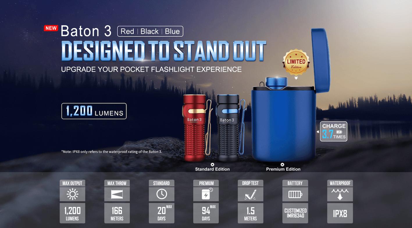 Olight Baton 3 - Premium Edition Wireless Charging Torch Review - main advert