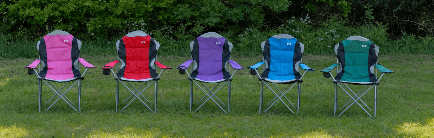 Trail Camping Chair - The Kestrel Deluxe High Back Review - colours