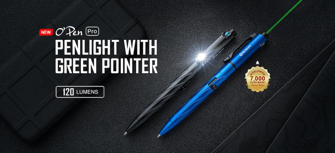 Olight Open Pro Penlight - advert